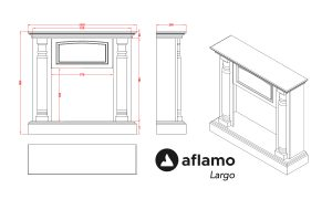 Aflamo Largo dimensional drawing